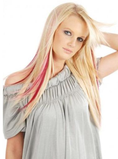 Affordable Red Straight Clip on Hair Extensions