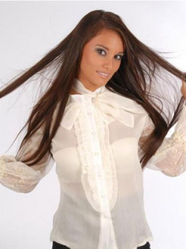 Beautiful Auburn Straight Clip on Hair Extensions