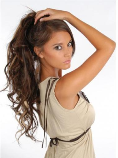 Cheap Brown Curly Clip on Hair Extensions