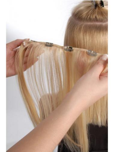 Fishnet Blonde Straight Clip in Hair Extensions