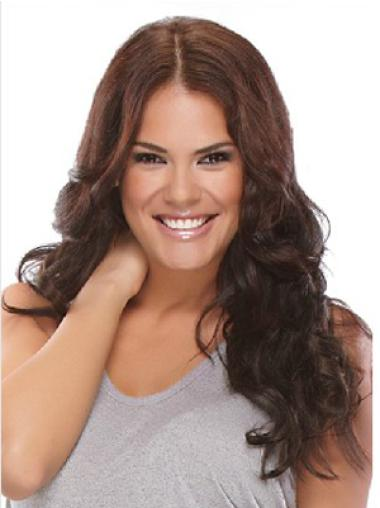 Designed Brown Wavy Synthetic Clip on Hair Extensions
