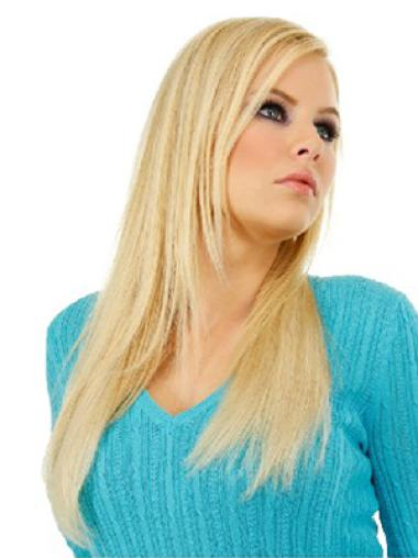 Discount Blonde Straight Clip on Hair Extensions