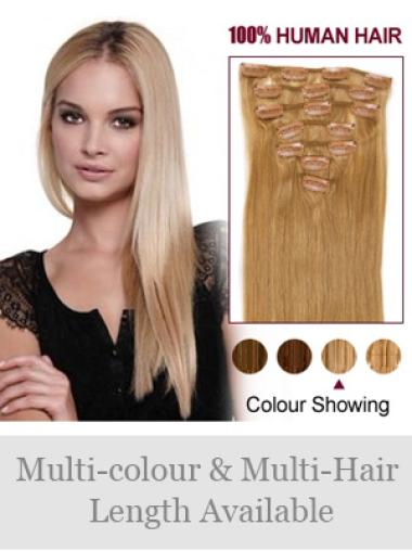Good Blonde Straight Clip on Hair Extensions