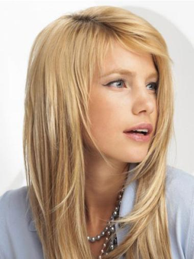 Great Blonde Straight Synthetic Clip on Hair Extensions