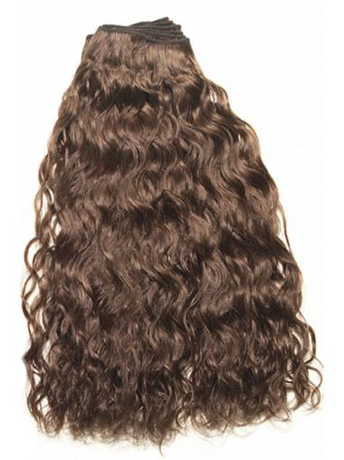 High Quality Brown Curly Clip on Hair Extensions