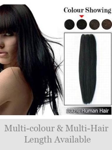 Online Black Straight Weft Extensions