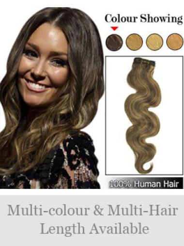 Designed Brown Wavy Weft Extensions