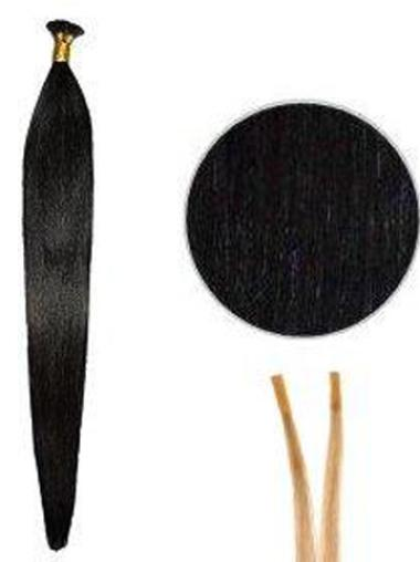 Flexibility Black Straight Stick Tip Hair Extensions