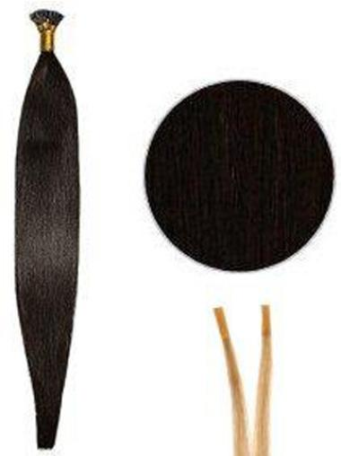 High Quality Black Straight I Tip Hair Extensions