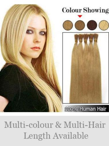 Comfortable Blonde Straight Stick Tip Hair Extensions
