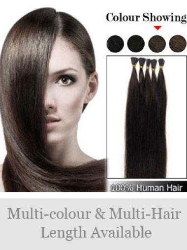 Discount Brown Straight Stick Tip Hair Extensions