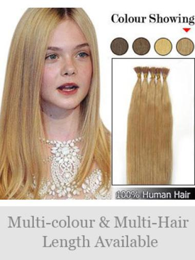 Fabulous Blonde Straight Stick Tip Hair Extensions