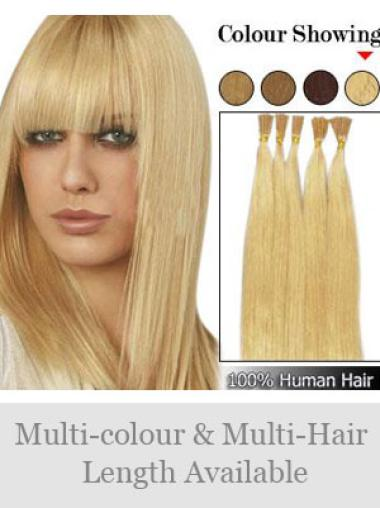 Fashionable Blonde Straight Stick Tip Hair Extensions