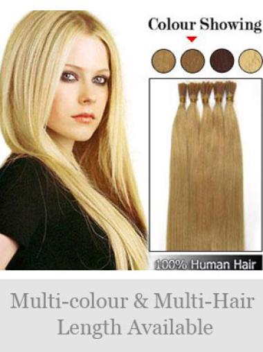 Fishnet Blonde Straight Stick Tip Hair Extensions