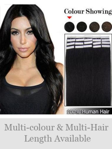 Online Black Straight Tape in Hair Extensions