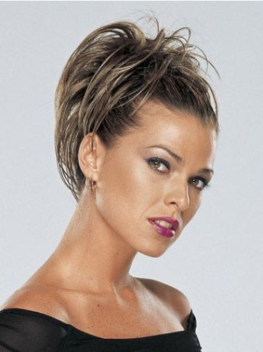 Modern Brown Straight Clip in Hairpieces