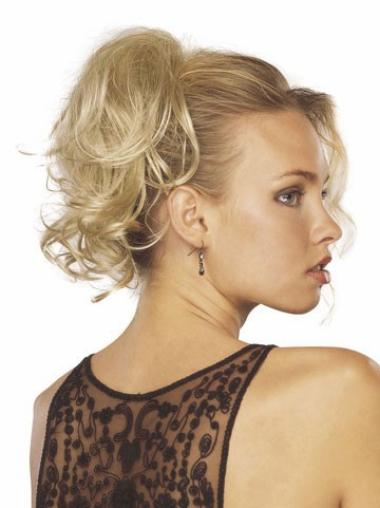 Stylish Blonde Wavy Clip in Hairpieces