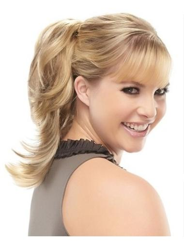 Trendy Blonde Wavy Clip in Hairpieces