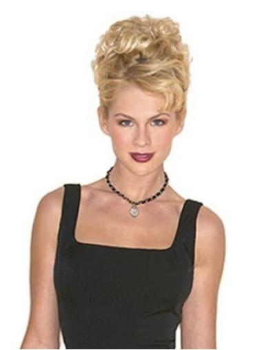 Wonderful Short Blonde Curly Clip in Hairpieces