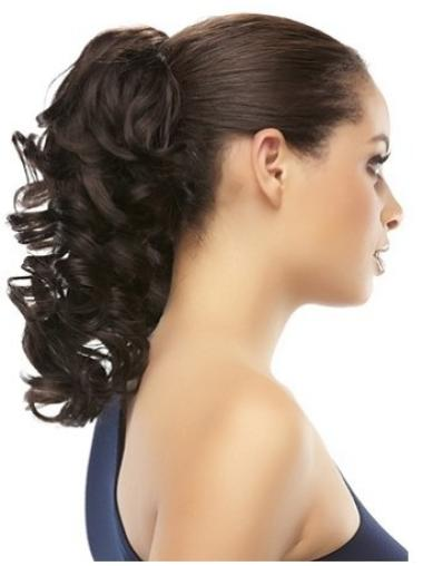 Cheapest Brown Curly Clip in Hairpieces