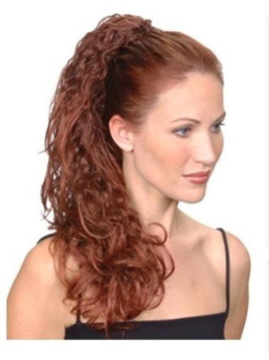 Classy Long Auburn Curly Clip in Hairpieces
