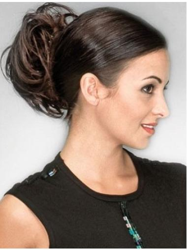 Classic Short Brown Wavy Clip in Hairpieces