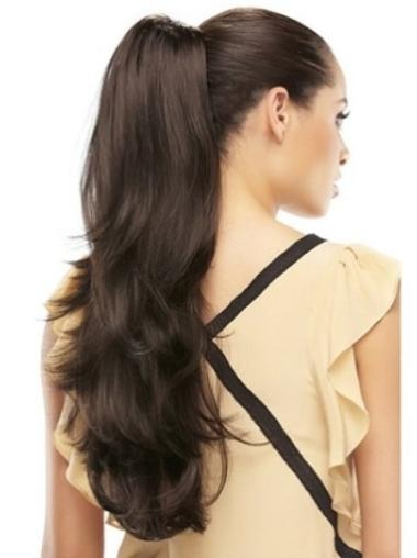 Fishnet Long Brown Wavy Clip in Hairpieces