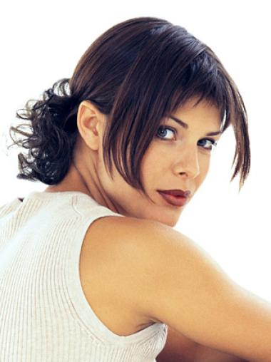 Beautiful Short Brown Straight Clip in Hairpieces