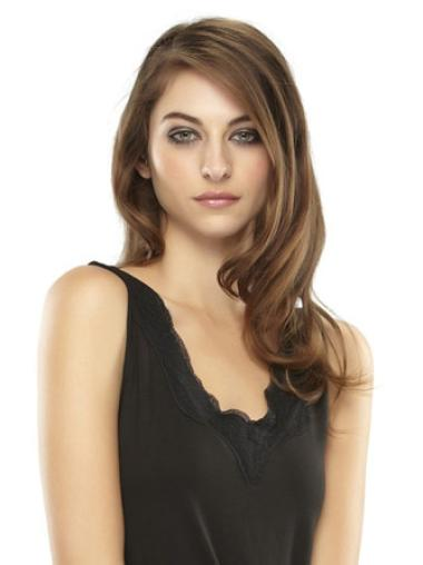 Fishnet Brown Wavy Clip in Hairpieces