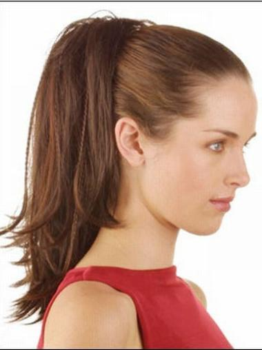 Perfect Brown Straight Ponytails