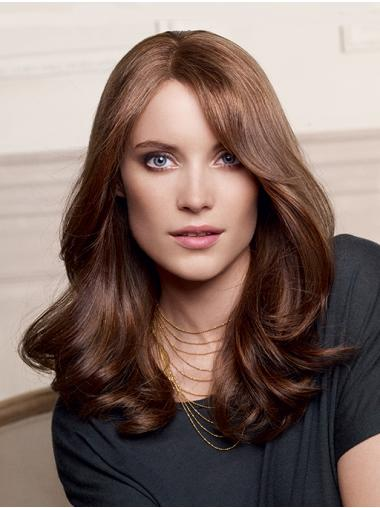 Layered Long 100% Hand-tied Wavy Auburn Wigs Human Hair