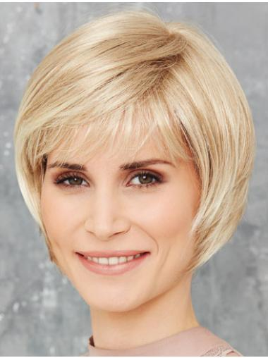 Blonde Monofilament 8 Inches Synthetic Bob Wig
