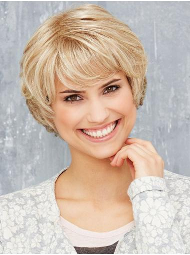 Blonde Monofilament 8 Inches Synthetic Bob Haircuts