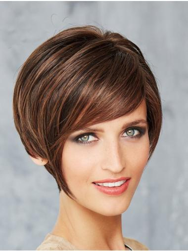 Brown Monofilament 8 Inches Synthetic Bob Hairstyles