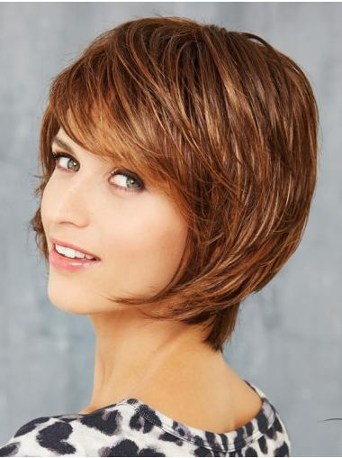 Auburn Capless 10 Inches Synthetic Bob Wigs For Women