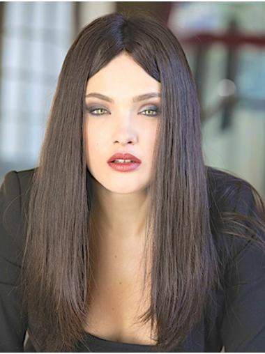 With Bangs Long Monofilament Straight Black Human Hair Wigs For Sale