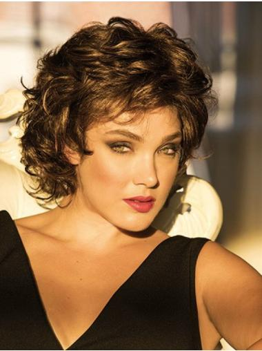 Monofilament Short Curly Classic Womens Wigs