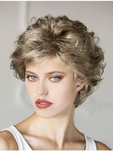 Capless Short Curly Classic Style Wig