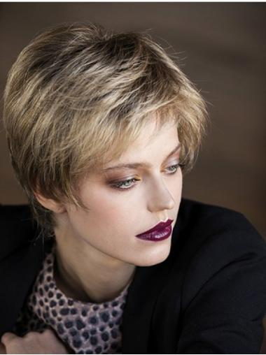 Straight Blonde 8 Inches Boycuts Short Hairstyles For Women