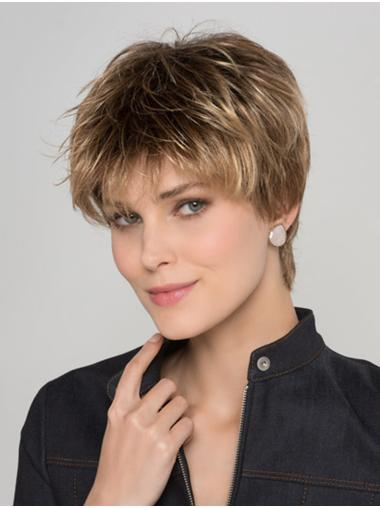 Straight Blonde 8 Inches Boycuts Ladies Short Hairstyles