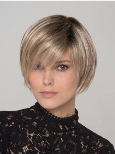 Blonde Capless 8 Inches Synthetic Wigs Bobs
