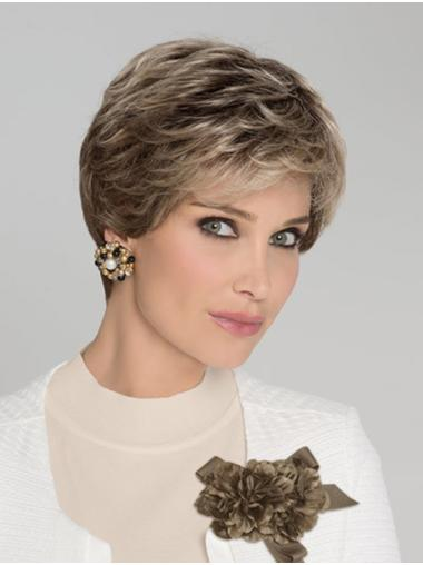 100% Hand-tied Short Wavy Classic Style Wigs