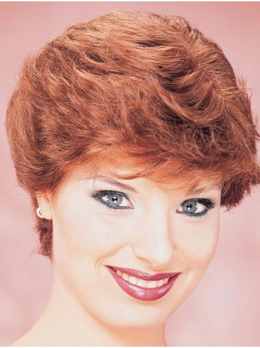 Monofilament Short Wavy Wig For Women Classic Style