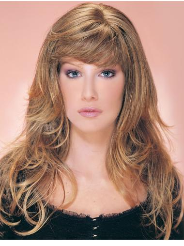 18 Inches Blonde Synthetic Wavy Wig Hair