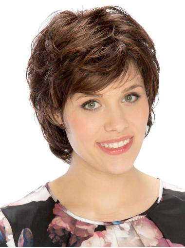 Wavy Brown 8 Inches Classic Monotop Wigs