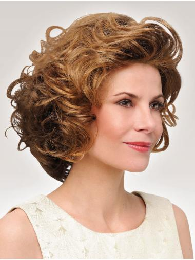 Curly Brown 10 Inches Classic Ladies Mono Wigs
