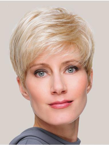 Monofilament Blonde Boycuts 8 Inches Synthetic Hair Wig