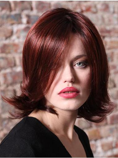 "Synthetic Wavy 12"" Red Without Bangs Fabulous Monofilament Wigs"