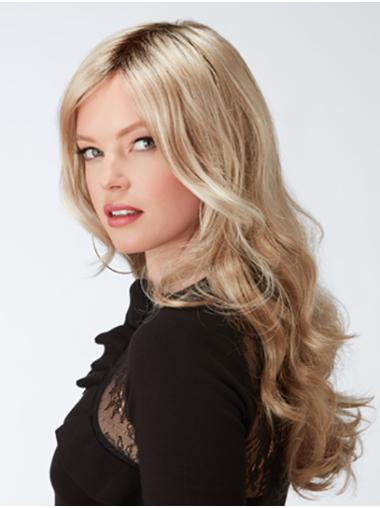 Curly Blonde Capless Layered Synthetic Ladies Long Wigs