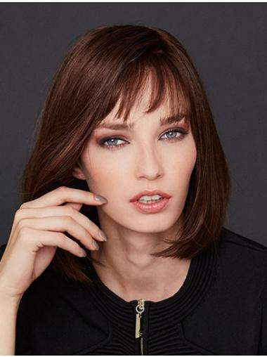 Chin Length Straight Auburn Monofilament Bobs Buy Lace Wig Online